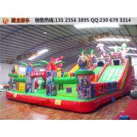 充气城堡的大型生产厂家河南藏龙游乐,猪猪侠充气城堡孩子们的童话乐园