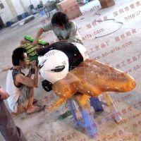 雕塑厂加工大型卡通雕塑-熊猫雕塑-梅花鹿雕塑-马雕塑 大型主题公园雕塑 大熊猫雕塑动物雕塑