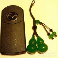 绿玛瑙汽车钥匙挂件钥匙链钥匙扣防磨损纯手工马来玉葫芦汽车饰品
