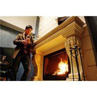 圣罗曼燃木真火壁炉 罗宾 嵌入式铸铁壁炉 单开门壁炉 取暖壁炉
