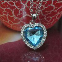 欧美经典泰坦尼克号同款毛衣链 海洋之心蓝宝石项链 ALQN20140198