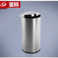 供应浙江不锈钢摇盖垃圾桶商场果皮桶酒店大堂用品直销