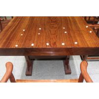 巴花实木家具餐桌办公桌茶桌会客桌厚重个性家具