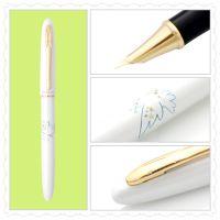 厂家直销毕加索钢笔606纯白金夹特细钢笔宝珠笔签字笔 礼品笔
