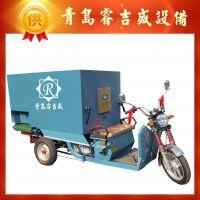 电动饲料撒料车喂料车 可定制 5立方投喂设备 睿吉盛专业生产牲畜饲料加工设备