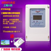 上海人民 浇地刷卡电表DSSY三相预付费公用感应表灌溉农用电子式射频电能表