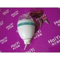 LED舞台灯光七彩家用舞台灯 LED旋转彩灯泡 水晶魔球