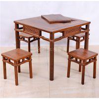 成都 中式家具 仿古家具定做 实木茶台茶几仿古中式明清家具餐桌功夫茶桌椅组合