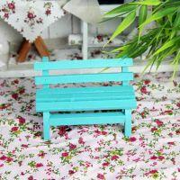 迷你绿色公园椅子拍照道具饰品拍摄摄影背景树脂吊脚娃娃椅子