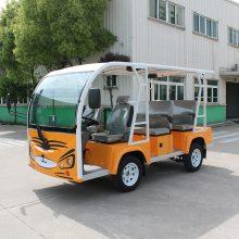 利凯士得供应景区熊猫观光车 6座 8座 11座电动游览观光车
