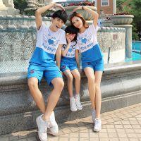 直销夏季爆款亲子装 韩国闺蜜装短袖T恤裤子 母女母子装单件