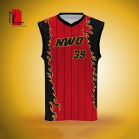 加工定制篮球服 篮球比赛服 篮球运动服 男 红色烈焰篮球训练服