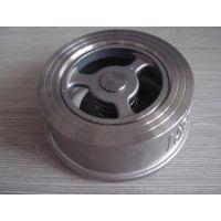 止回阀系列:H71H/W对夹升降式止回阀 夹式止回阀材质: 铸钢 不锈钢