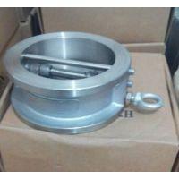 对夹式蝶形软密封 铸钢不锈钢蝶式止回阀 H77W/H/X-16P DN200 300