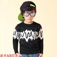 河南郑州时尚童装中大童装韩版毛衣批发的杂款童装毛衣批发