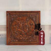 2014新款木质工艺品 中式复古年年有余东阳木雕挂件 厂家定做批发