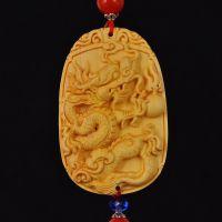 大千工艺 精品黄杨木雕刻 龙牌车挂 批发热销汽车车内装饰饰品
