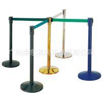广州摩东批发2米不锈钢栏杆座 3米钛金伸缩护栏 地铁车站活动围栏