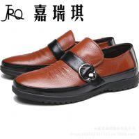 新款男鞋头层牛皮休闲鞋 套脚男士鞋品牌潮流鞋 豆豆鞋 单鞋 批发