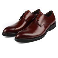 外贸男士商务正装皮鞋男系带进口牛皮打造真皮男鞋工作鞋小码37