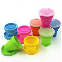 厂家定制硅胶折叠杯 户外旅行专用折叠硅胶水杯 可伸缩硅胶杯子