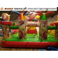 充气大滑梯经营方式灵活 加网PVC充气玩具 充气蹦床游乐场场地怎么选择