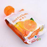 出口欧美儿童饮料吸嘴自立袋220ml 四边封130G苹果盖防咽果汁/营养汁铝箔袋