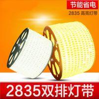东方新能源LED2835贴片灯带超高亮防水双排180珠纯铜线灯带led七彩变色