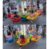 爆款直销广场旋转鱼 儿童电动秋千飞鱼椰子树飞鱼 旋转转椅12座飞鱼设备