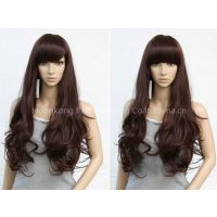 Fried Long-Style Fashion Wig beautiful women party wig human hair lace 100% quality