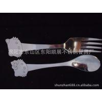 餐具礼品不锈钢勺子 促销礼品餐具 hellokitty勺叉
