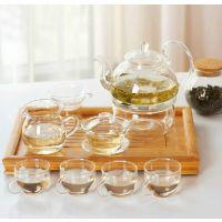 特价耐高温玻璃茶具套装 透明玻璃花草茶壶茶具套装玻璃功夫茶具