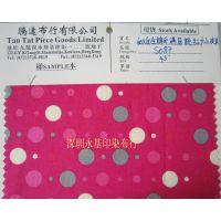 香港厂家直销60*60棉布印满底大小波波 箱包鞋帽全棉平布印花