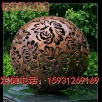 大型180HE铸铁雕塑镂空球摆件 公司企业门口圆球摆件 河北树林铜雕工艺品公司