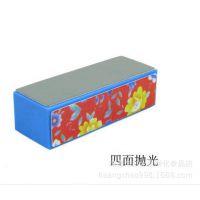美甲用品 普通花纹砂纸挫 方块抛光块 抛光海绵 指甲修护