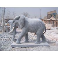 直销 石头象 吉祥如意象 石雕 动物雕塑 大理石大象 加工定做