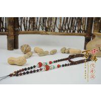 【设计】花式仿山龟佛珠+暗红色瓜珠琉璃项链手串 5.5mm*98颗