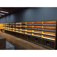 大沣DF-003精品超市货架酒柜展示架进口商品食品木制架