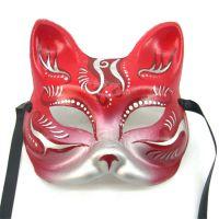 深圳面具批发工厂威尼斯风格纸浆猫脸面具万圣节面具加工