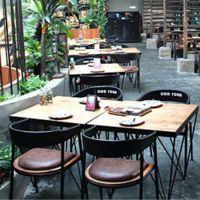新品推荐 优质进口实木餐桌 复古会客桌 海德利西餐厅长方形桌子