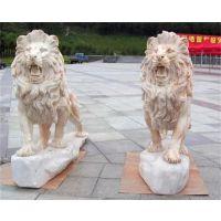 现代石雕狮子_石雕狮子_大石代雕塑