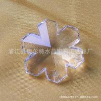 (新款)供应水晶枫叶挂件 水晶灯饰用品