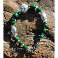 新款热销藏式幸福鱼手链绿松石手链时尚民族风女士潮流夏季复古