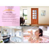 白色镶线实木玻璃门造型/高档卧室门书房门上海厦门青岛价格