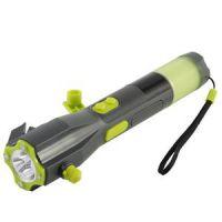 太阳能收音机手电筒LED多功能车载逃生冲击锤汽车户外应急安全锤