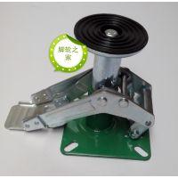 供应生产厂家优质6寸日式地刹器、顶高器脚轮、调整架脚轮