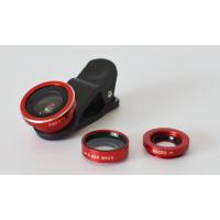 手机通用夹子三合一套装180°鱼眼镜头 0.65X广角镜头 10x微距镜头 无锡瑞丰达