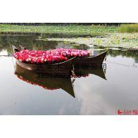 庆荣木业供应公园花船吧台船沙发船木船摆件酒店装饰船摄影道具船