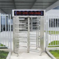 工地带显示屏全高闸/深圳的全高转闸厂家/远韬可订制十字转闸