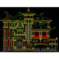 法式风格框架舒适中空全套自建房屋施工图(含结构+水电)21.5x18.8米21.5x18.8米